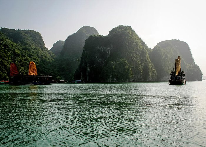 Scenics Greeting Card featuring the photograph Halong Bay by Rafax