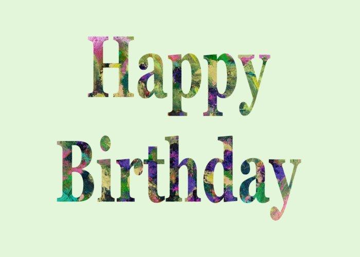 Happy Birthday Greeting Card featuring the digital art Happy Birthday 1005 by Corinne Carroll