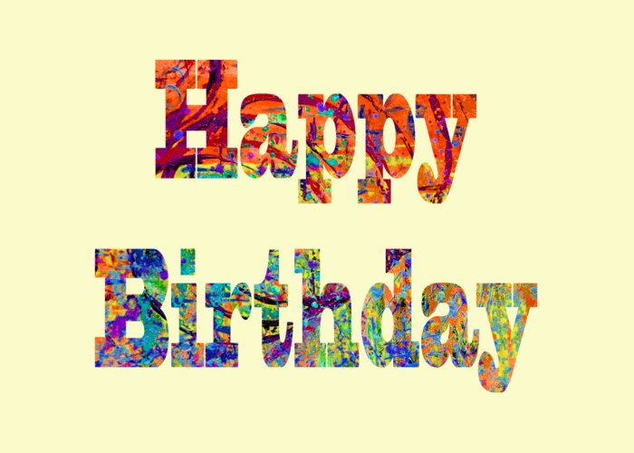 Happy Birthday Greeting Card featuring the digital art Happy Birthday 1007 by Corinne Carroll