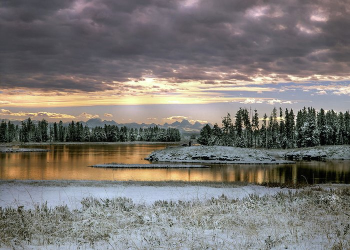 Idaho Scenics Greeting Card featuring the photograph Harriman Winter by Leland D Howard