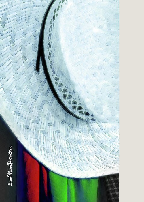 Art Greeting Card featuring the digital art Hat Painting by Miss Pet Sitter
