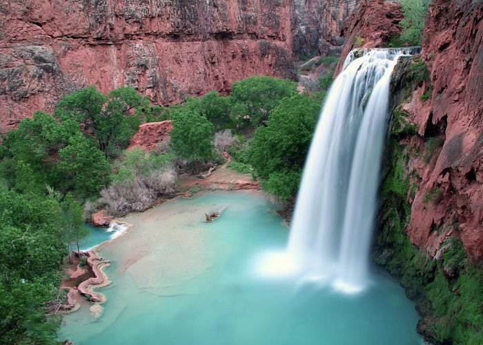 Geology Greeting Card featuring the photograph Havasu Falls Landscape by Jpschrage