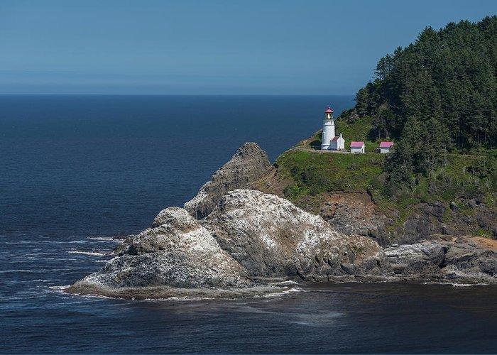 Scenics Greeting Card featuring the photograph Heceta Head Lighthouse, Oregon Coast by Jeff Hunter