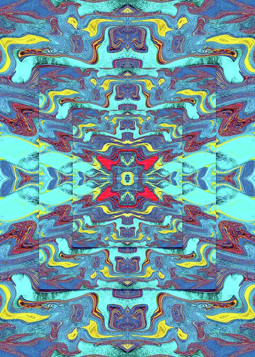 Abstract Greeting Card featuring the digital art Obscure Depths of the Ocean by Jack Entropy