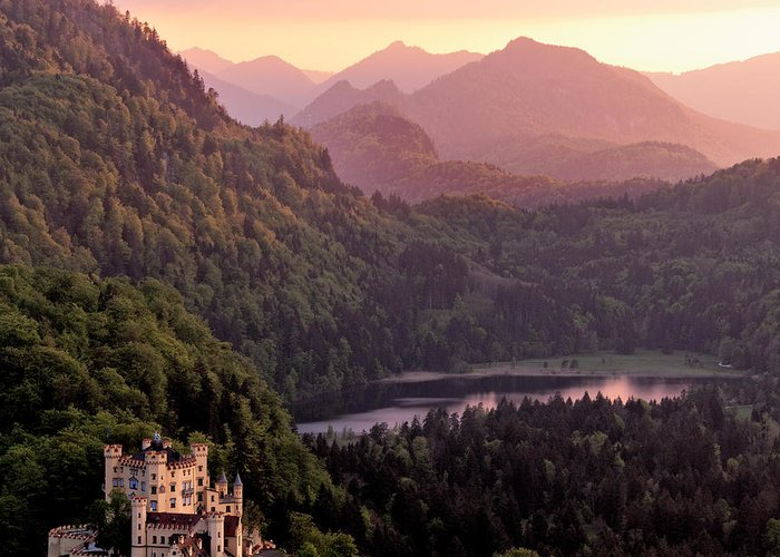 Forest Greeting Card featuring the photograph Hohenschwangau Castle Bavaria Germany by Francesco Carucci