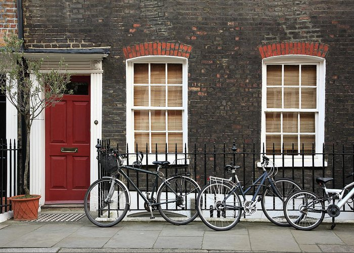 Row House Greeting Card featuring the photograph House In London by Imagestock