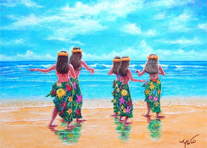 Hula Greeting Cards