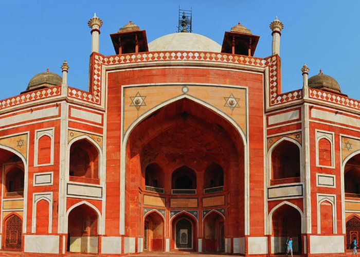 Arch Greeting Card featuring the photograph Humayuns Tomb, New Delhi by Mukul Banerjee Photography