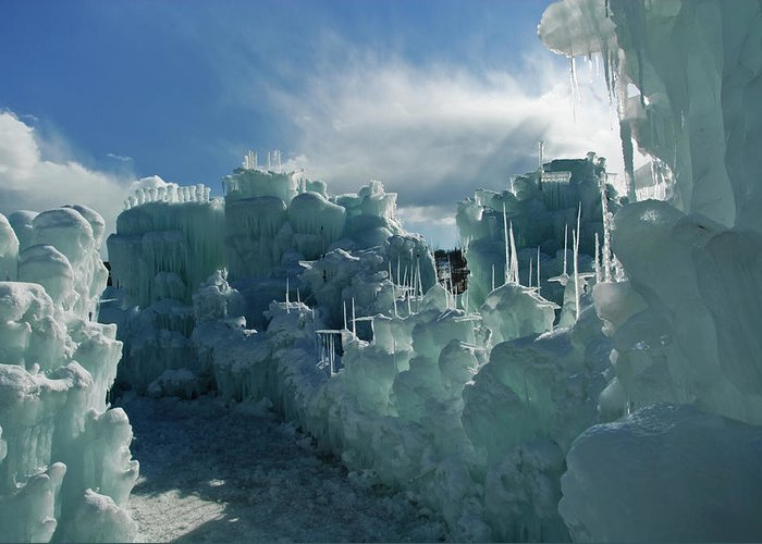 Iceberg Greeting Card featuring the photograph Ice Castle by Robin Wilson Photography