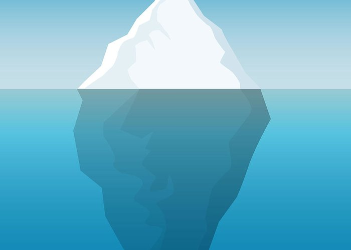Template Greeting Card featuring the digital art Iceberg Background by Majson