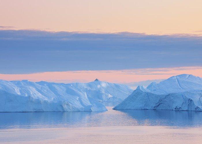 Iceberg Greeting Card featuring the photograph Iceberg by Raimund Linke