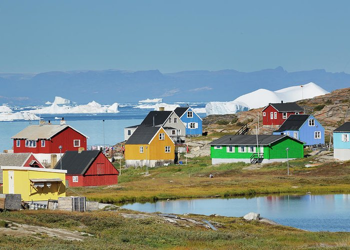 Ilulissat Icefjord Greeting Card featuring the photograph Ilulissat by Cornelia Doerr