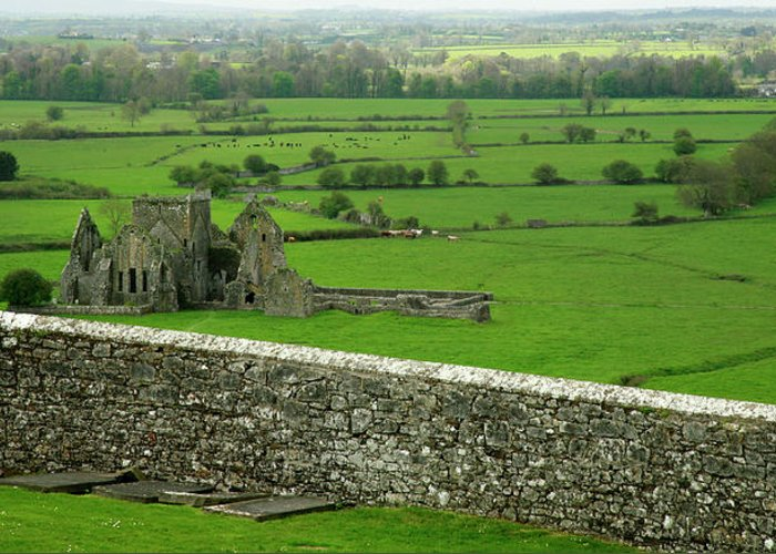 Scenics Greeting Card featuring the photograph Ireland Country Scape With Castle Ruins by Njgphoto