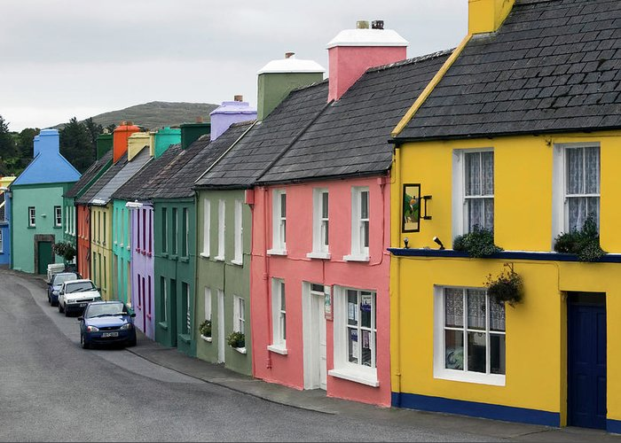Row House Greeting Card featuring the photograph Ireland, County Cork, Beara Peninsula by Glen Allison