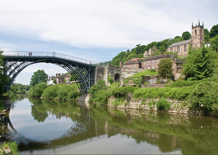 Arch Greeting Card featuring the photograph Ironbridge In Telford by Dageldog