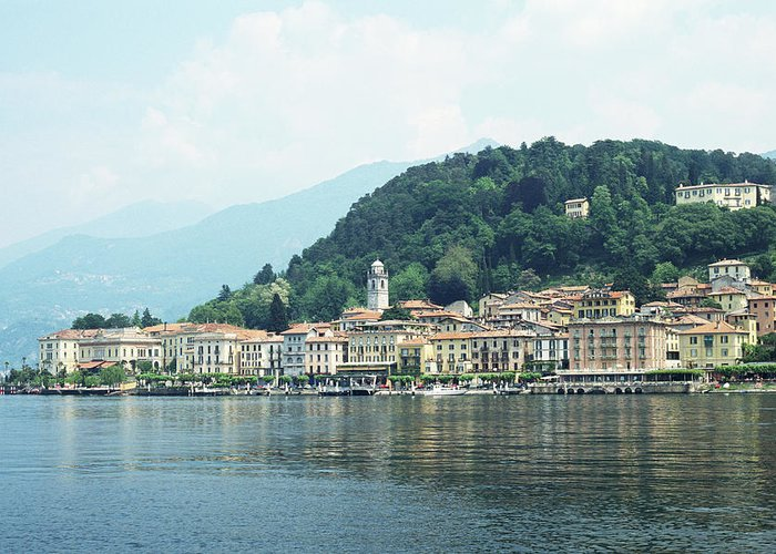 Outdoors Greeting Card featuring the photograph Italy, Lombardy, Bellagio On Lake Como by Andy Sotiriou