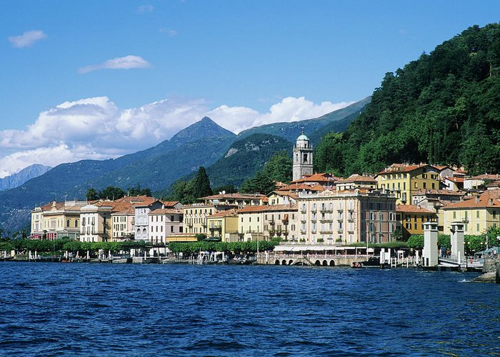 Scenics Greeting Card featuring the photograph Italy, Lombardy, Bellagio by Vincenzo Lombardo