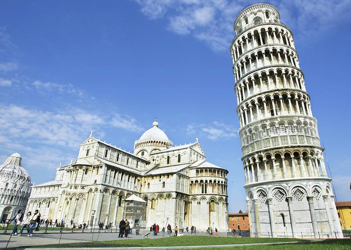City Greeting Card featuring the photograph Italy, Tuscany, Leaning Tower Of Pisa by Alexander Hassenstein