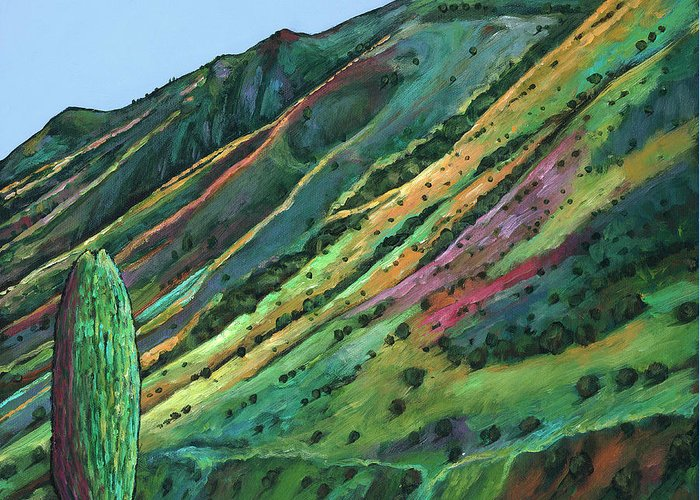 Landscape Art Greeting Card featuring the painting Jackson Hole by Johnathan Harris