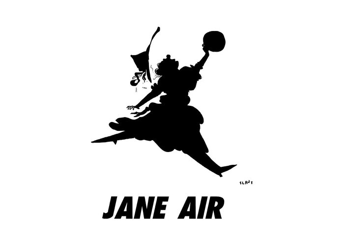 Jane Air Greeting Card featuring the drawing Jane Air by Sara Lautman