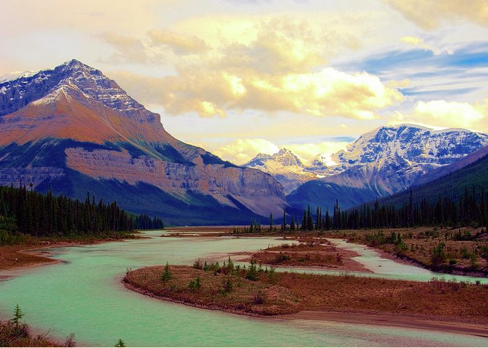 Scenics Greeting Card featuring the photograph Jasper Rockies by Teeje