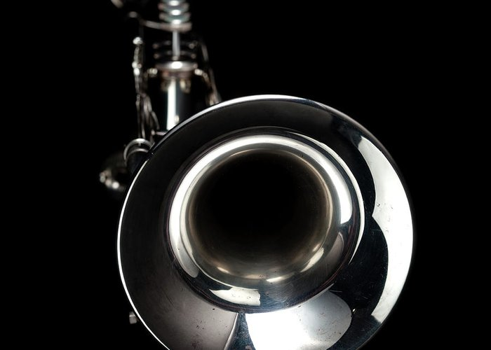 Music Greeting Card featuring the photograph Jazz Music Trumpet by Photovideostock