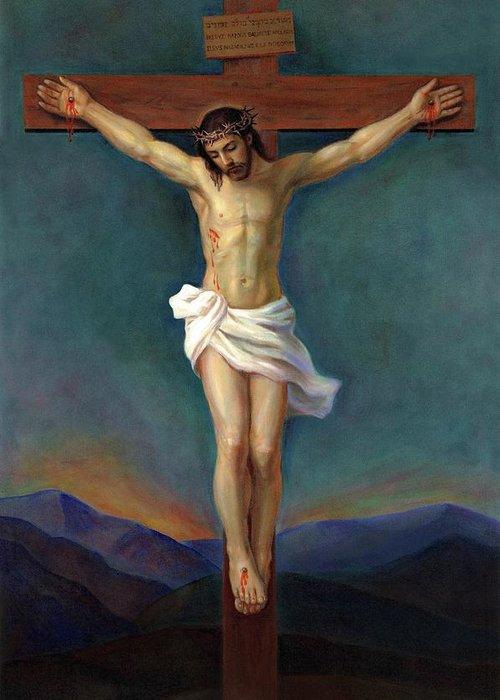 Jesus Christ On The Cross - Crucifixion Painting by Svitozar Nenyuk