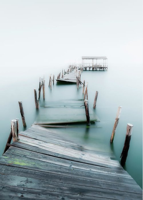 The End Greeting Card featuring the photograph Jetty by Lt Photo