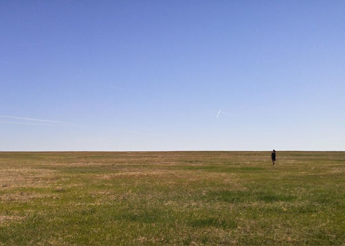 Colorado Greeting Card featuring the photograph Just Walk To The Horizon by Carl Young