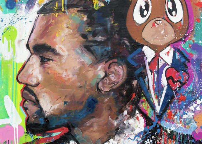Rapper Kanye West Greeting Cards