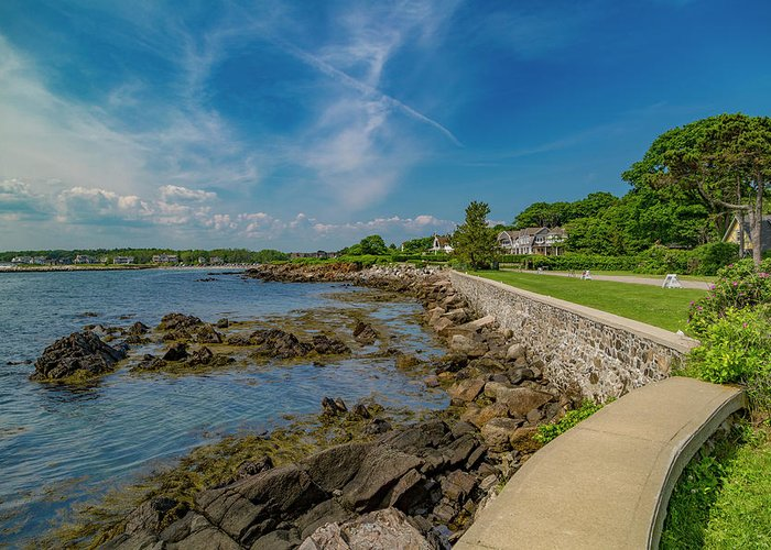 Kennebunkport Greeting Card featuring the photograph Kennebunkport The Green Lively Life by Betsy Knapp