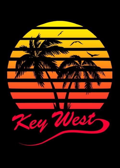 Key Greeting Card featuring the digital art Key West by Filip Schpindel