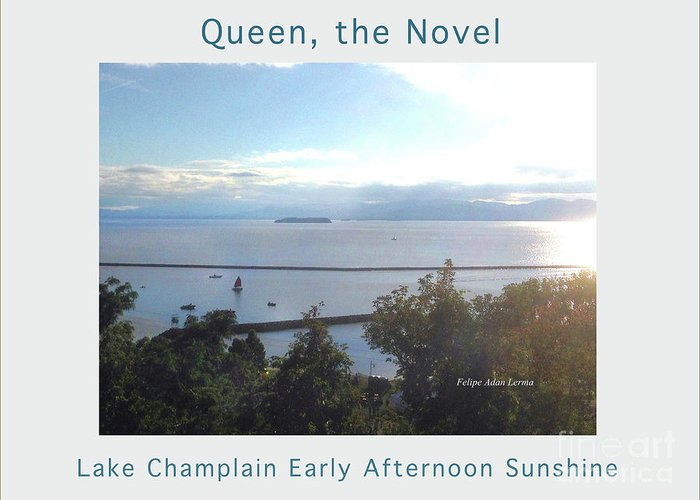 Image In Novel Greeting Card featuring the photograph Lake Champlain Early Afternoon Sunshine Enhanced Poster by Felipe Adan Lerma
