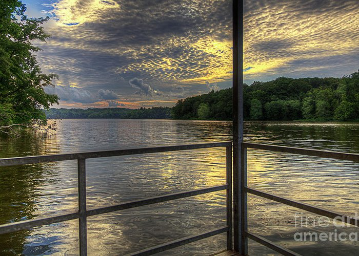 Hdr Greeting Card featuring the photograph Lake Girardeau Conservation Area by Larry Braun