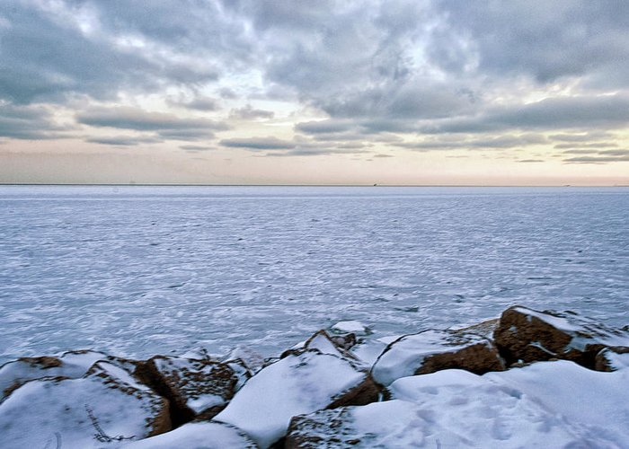 Tranquility Greeting Card featuring the photograph Lake Michigan by By Ken Ilio