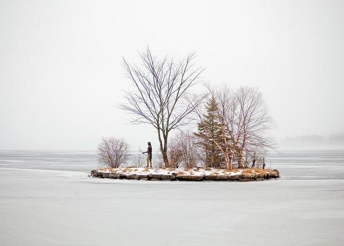 Lake Winnipesaukee Greeting Card featuring the photograph Lake Winnipesaukee Indian Island Meredith New Hampshire by Trevor Slauenwhite