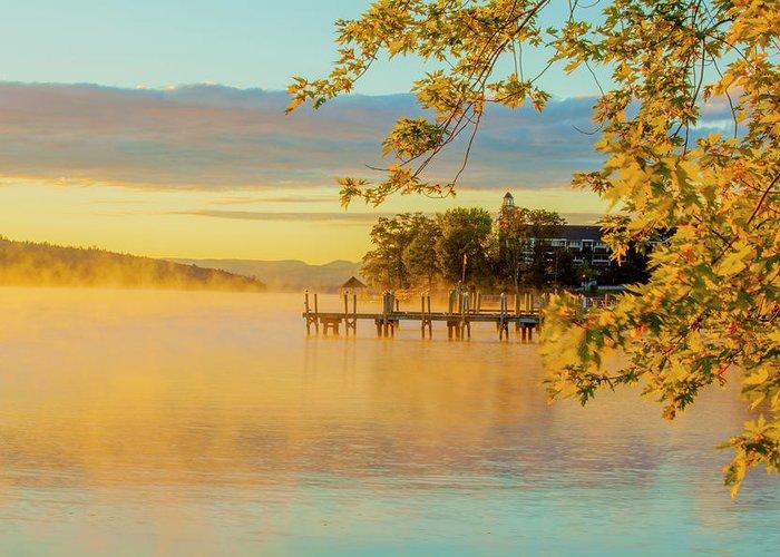 Lake Winnipesaukee Greeting Card featuring the photograph Lake Winnipesaukee by Trevor Slauenwhite
