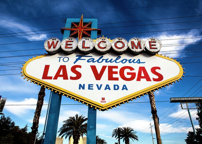 Outdoors Greeting Card featuring the photograph Las Vegas by Aluma Images