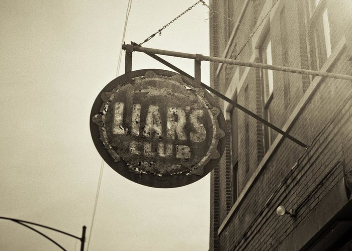 Nightclub Greeting Card featuring the photograph Liars Club Chicago by T Scott Carlisle