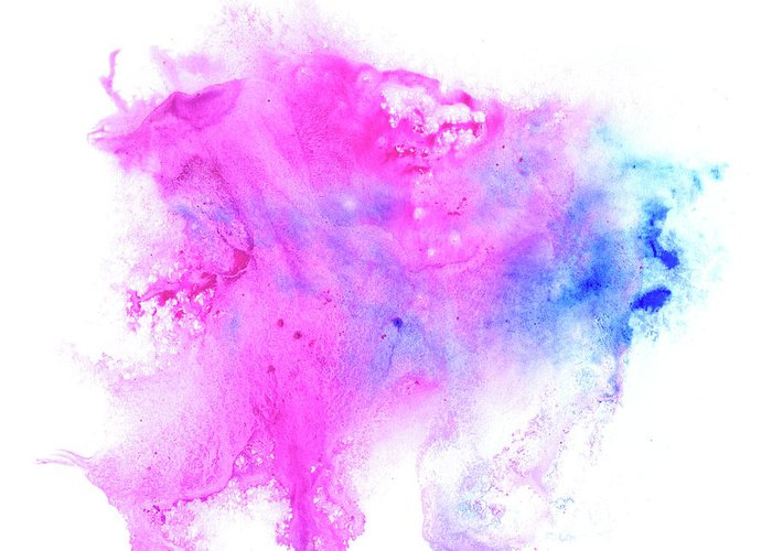 Art Greeting Card featuring the digital art Lilac Blot by Pobytov