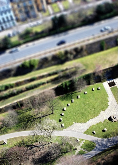England Greeting Card featuring the photograph Liverpool From Above, Tilt-shift Lens by Ilbusca