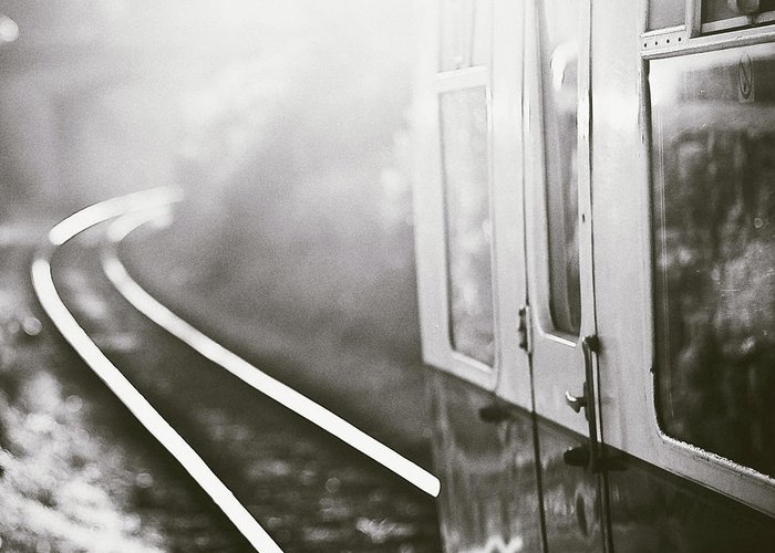 Train Greeting Card featuring the photograph Long Train Running by James Homer