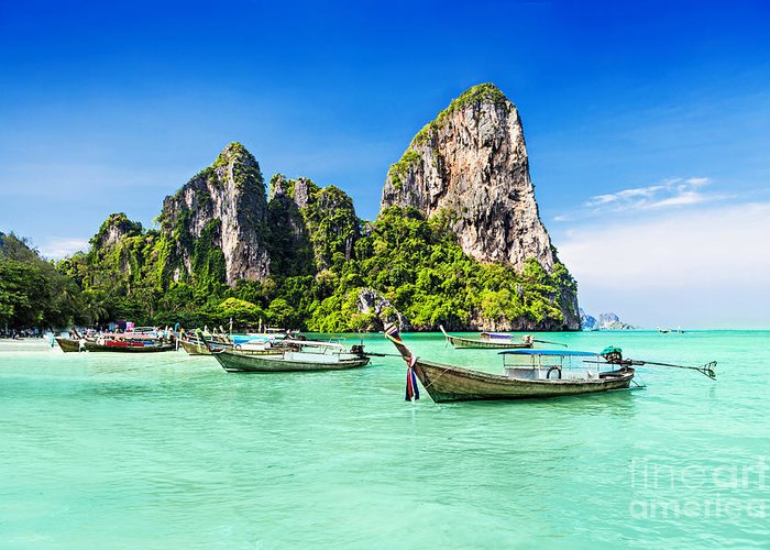 Phi Phi Island Photographs Greeting Cards