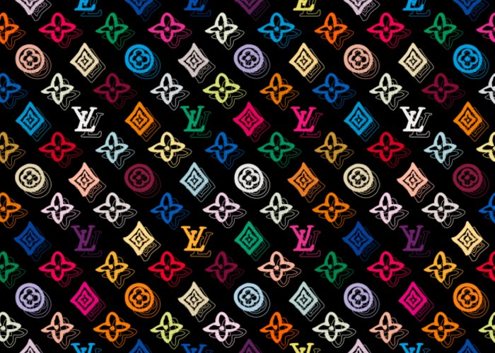 Lv Greeting Card featuring the painting Louis Vuitton Monogram-4 by Nikita