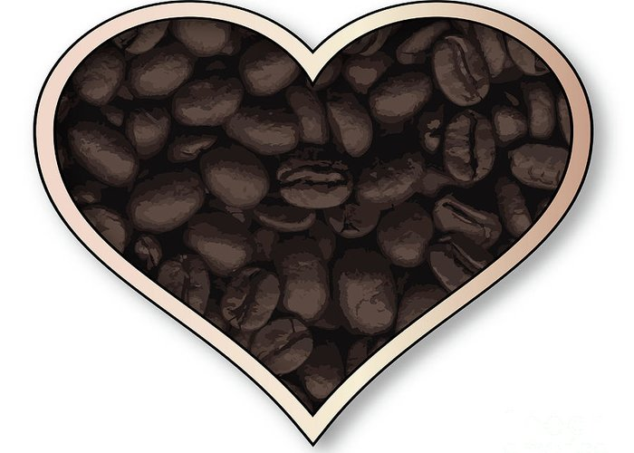 Love Greeting Card featuring the digital art Love Coffee by Bigalbaloo Stock