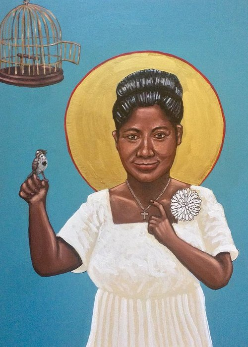 Greeting Card featuring the photograph Mahalia Jackson by Kelly Latimore