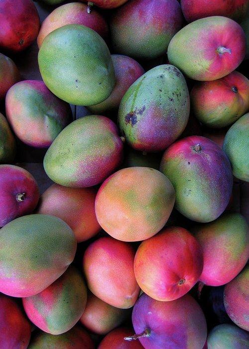 Mango Fruit Greeting Card featuring the photograph Mango Mania by Digi guru