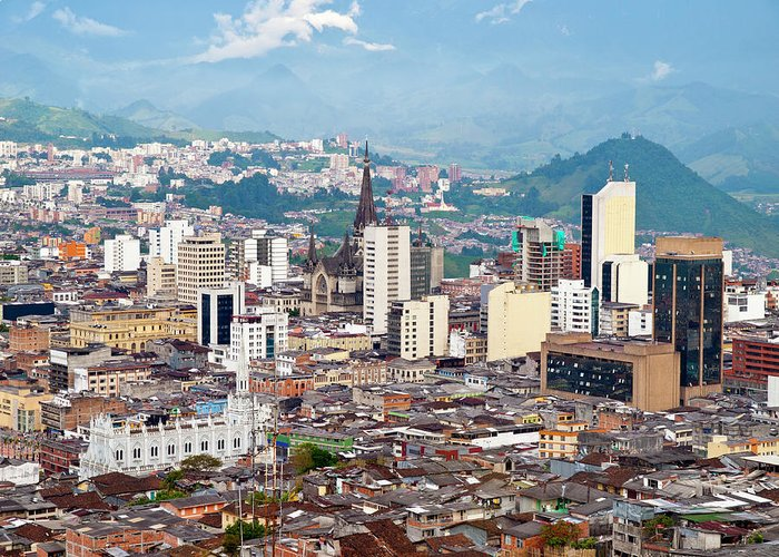 Built Structure Greeting Card featuring the photograph Manizales City View, Colombia by Holgs