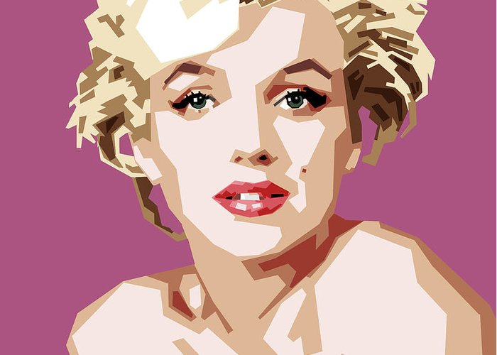 Digital Greeting Card featuring the digital art Marilyn by Douglas Simonson
