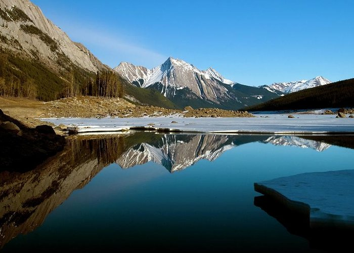 Scenics Greeting Card featuring the photograph Medicine Lake, Jasper National Park by Design Pics/richard Wear